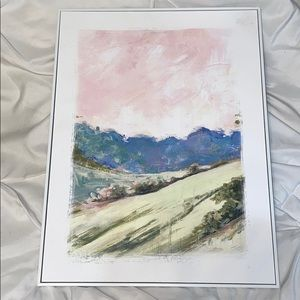 Pastel Nature Print In Frame New Unused